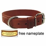 shop 1-1/4 in. Gun Dog Deluxe Leather Standard Dog Collar