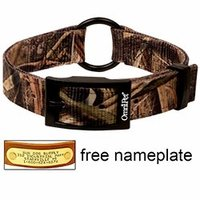 shop Mossy Oak Blades Camo 2-ply Nylon Center Ring Dog Collar