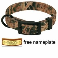 shop Mossy Oak Blades Camo 2-ply Nylon D-End Dog Collar