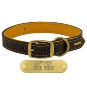 shop 1 in. Deer Tan Latigo Leather Dog Collar by Omnipet