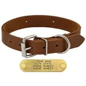 shop 1 in. Leather Standard Dog Collar
