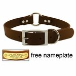 shop 1 in. Mendota DuraSoft Brown Hunt Dog Center-Ring Dog Collar