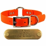 shop 1 in. Mendota DuraSoft Orange Hunt Dog Center-Ring Dog Collar