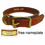 shop 1 in. Mendota Hunt Dog Leather D-Ring Dog Collar