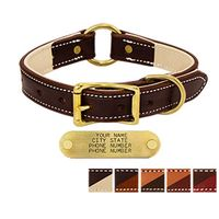 shop 1 in. Premium Deluxe Leather Center Ring Collars