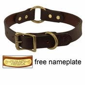 shop 1 in. Leather Center Ring Dog Collar by Filson -- BROWN