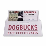 shop $100 Dog Buck$ Gift Certificate