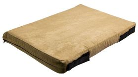 shop 12 in. x 18 in. Bizzy Beds™ Crate Cushion -- Beige