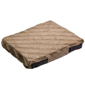 shop 12 in. x 18 in. Bizzy Beds® Crate Cushion -- Tan Stripe