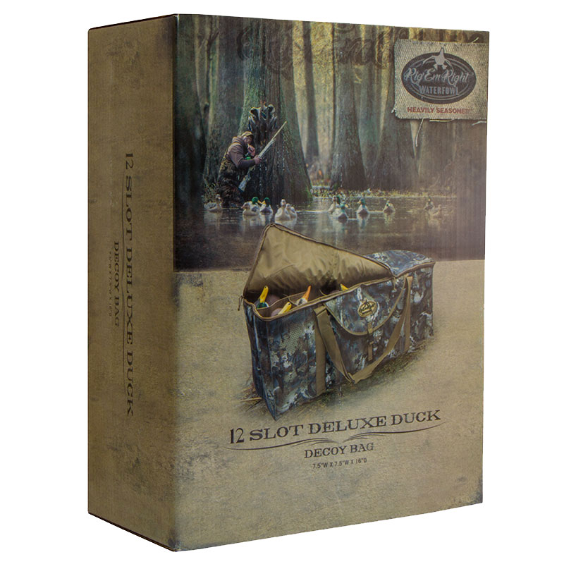 12-Slot Deluxe Duck Decoy Bag Box