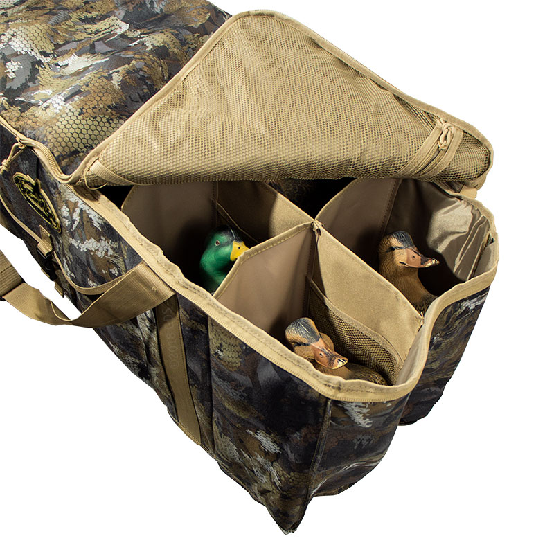 12-Slot Deluxe Duck Decoy Bag with Decoys (not included)