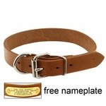 shop 1in. Leather D-End Dog Collar