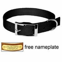 shop 3/4 in. Black OmniPet Single Ply Stitched Nylon Collar