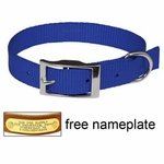 shop 3/4 in. Blue OmniPet Single Ply Stitched Nylon Collar