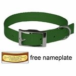 shop 3/4 in. Green OmniPet Single Ply Stitched Nylon Collar