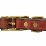 shop 3/4 in. K-9 Komfort Deluxe Leather Center Ring Puppy/Small Breed Collar Back of Buckle Collar