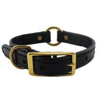 shop 3/4 in. K-9 Komfort Deluxe Leather Center Ring Puppy / Small Breed Collar -- 12 in.