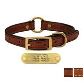 shop 3/4 in. Deluxe Leather Center Ring Puppy / Small Breed Collars