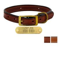 shop 3/4 in. Deluxe Leather Standard Puppy / Small Breed Dog Collars