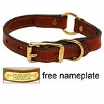 shop 3/4 in. Mendota Hunt Dog Leather Center-Ring Safety Puppy / Small Dog Collar