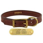 shop 3/4 in. Mendota Hunt Dog Leather D-End Puppy / Small Dog Collar