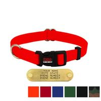 shop 3/4 in. Tuff Lock Quick Release Nylon Dog Collar