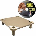shop Medium 30 in. Square Premium Weave Dog Cot by 4Legs4Pets