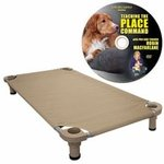 shop Medium 40 in. x 22 in. Rectangle Premium Weave Dog Cot by 4Legs4Pets