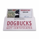shop $50 Dog Buck$ Gift Certificate