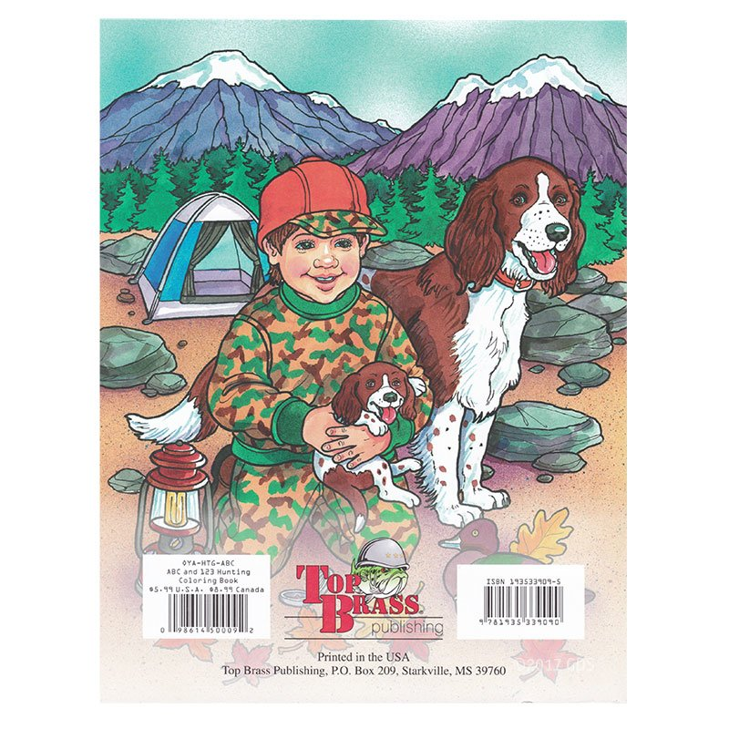 ABC's and 123's Hunting Coloring Book back cover