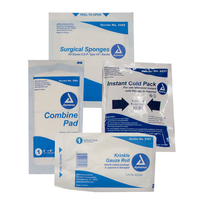 Instant Cold Pack, Surgical Sponges, Krinkle Gauze Roll