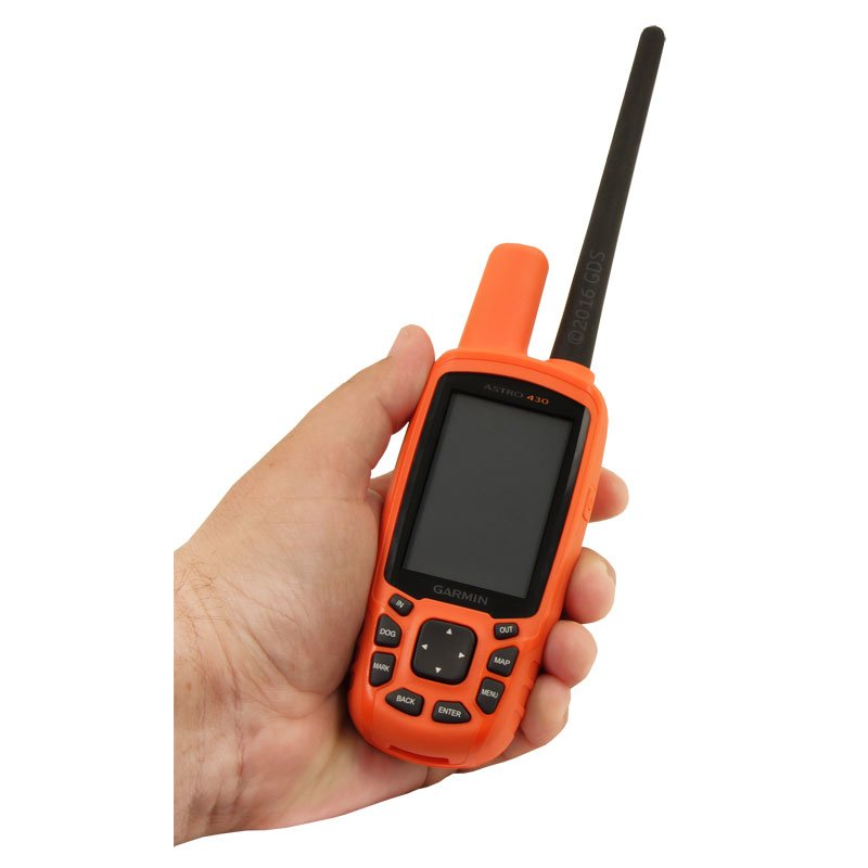 Astro 430 in Hand with Regular Antenna