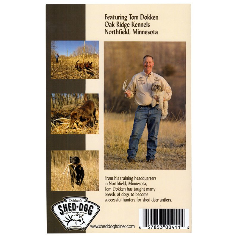 Back Cover of Training Your Dog to Hunt for Shed Deer Antlers booklet