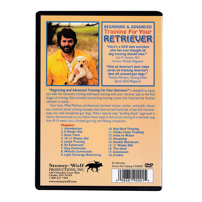 Beginning and Advanced Training for Your Retriever DVD back