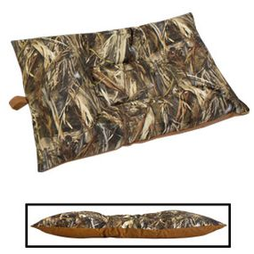 shop MEDIUM Bizzy Beds® Dog Bed with Zipper -- True Timber DRT Camo / Brown Canvas Two-Tone