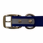 shop Blue TufFlex Reflective Collar Buckle Inside Detail