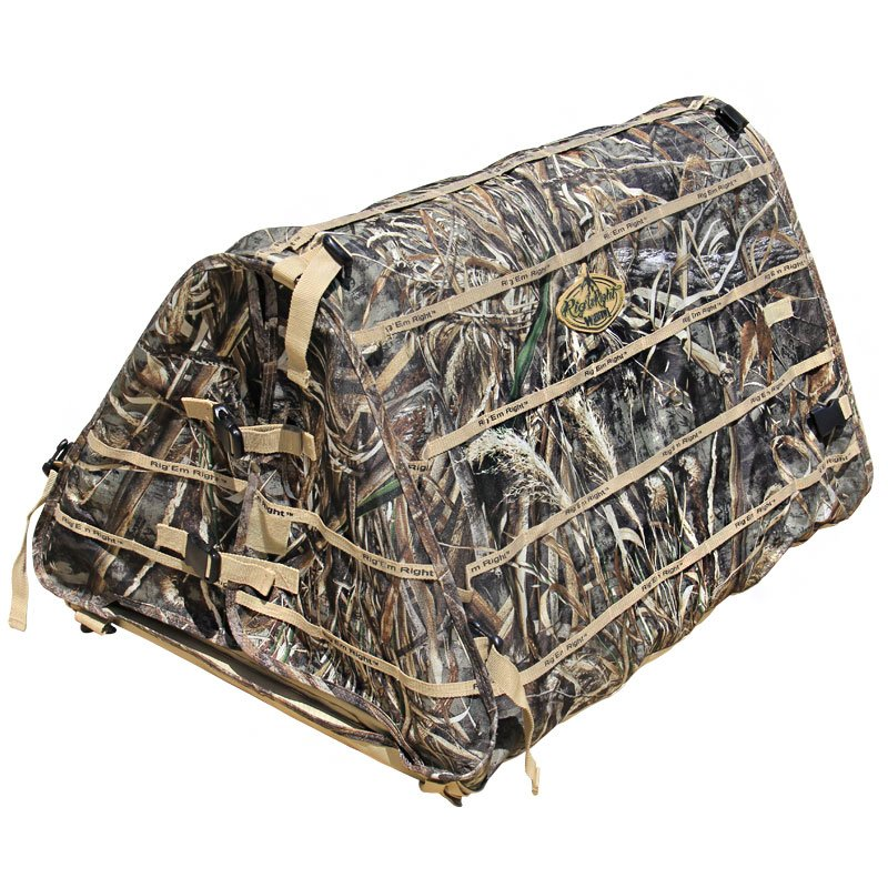 Field Bully Dog Blind Back Flaps Closed