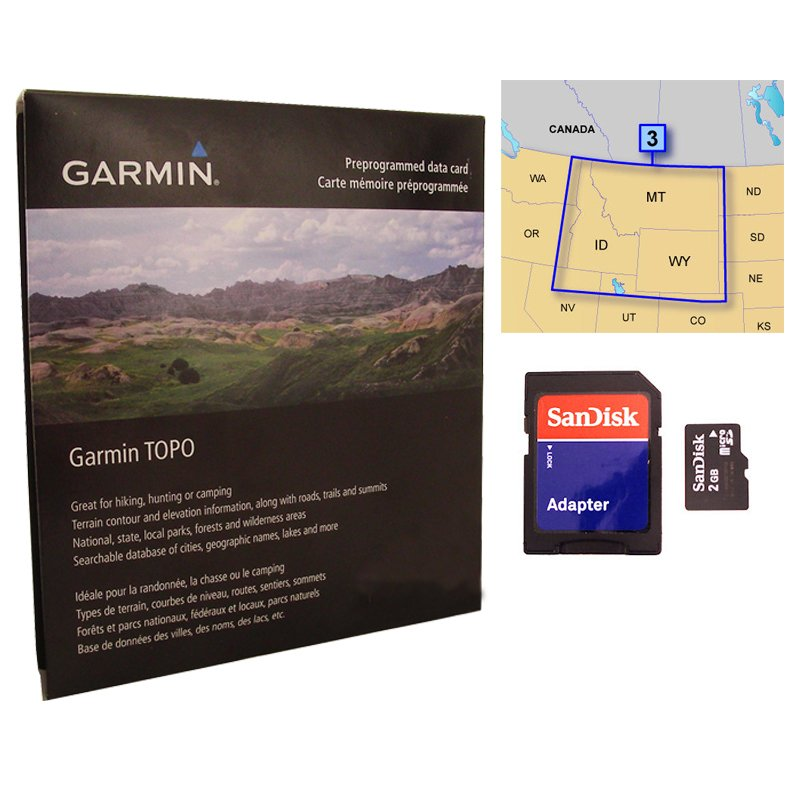 CLEARANCE SALE -- Garmin 100K TOPO Map MicroSD Card Region 3 ... on maps for tomtom, maps for blackberry, maps for humminbird, maps for hp, maps for gps,