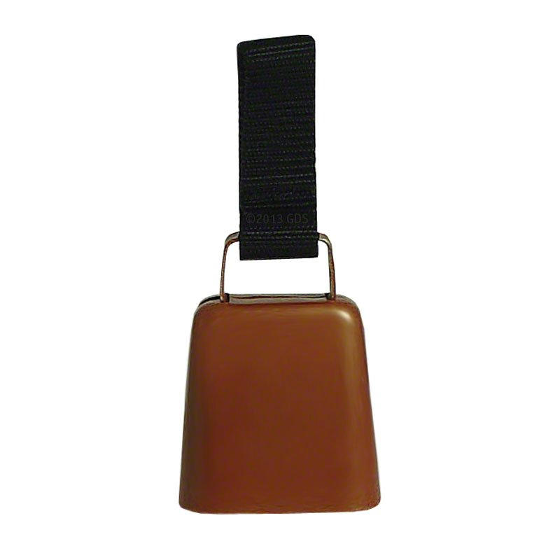 Copper Collar Bell with Nylon Loop Front View