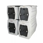 shop Dog Crate Coupler stacked in use