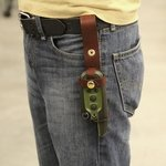 shop Coyote Holster for Garmin Sport PRO Attached to Belt