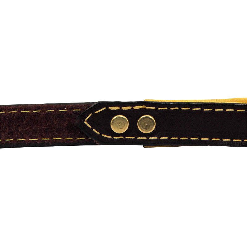 Deer Tan Latigo Leather Lead Handle Inside Rivet Detail