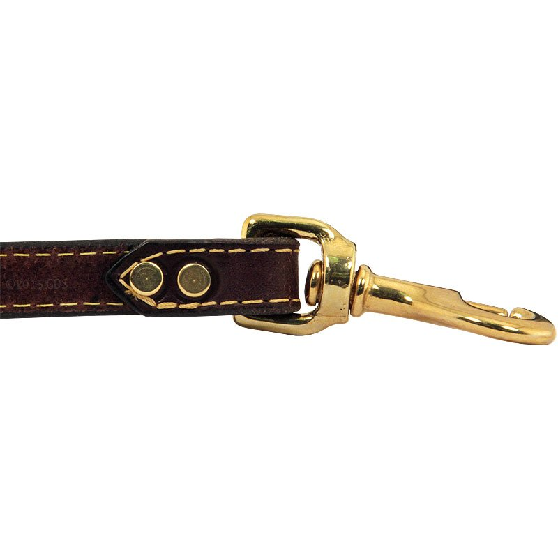 Deer Tan Latigo Leather Lead Hardware Inside Rivet Detail