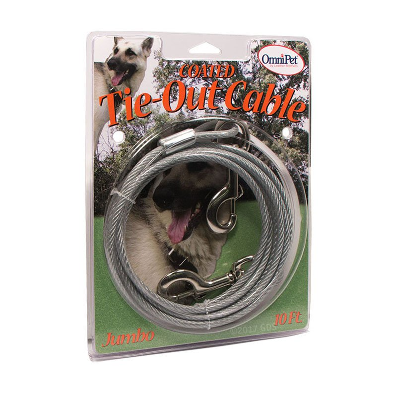 Dog Coated Tie-Out Cable Box -- Jumbo 10 ft. by OmniPet