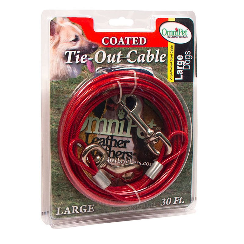 Dog Coated Tie-Out Cable Box -- Large 30 ft. by OmniPet
