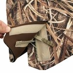 shop Mud River Ducks Unlimited Deluxe Dog Vest Zipper and Velcro Detail