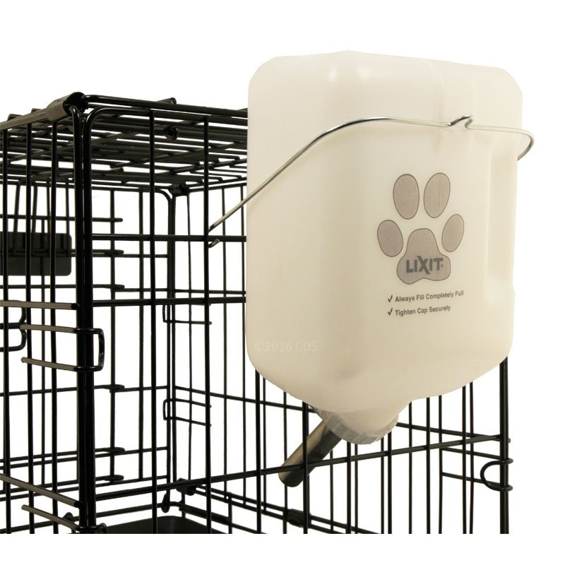 Dog Water Bottle 64 oz on Crate