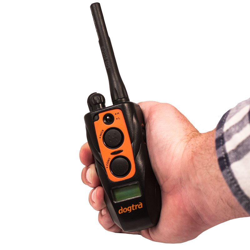 Dogtra 2700 T&B Transmitter in Hand
