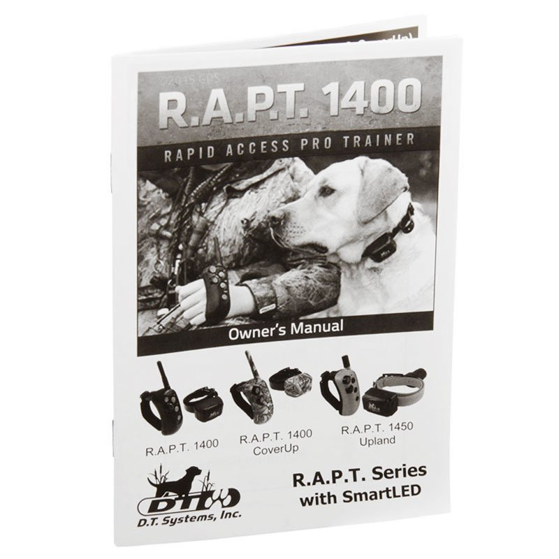 DT Systems R.A.P.T. 1450 Upland Manual