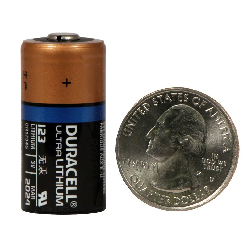 Duracell 123 Battery Size Reference